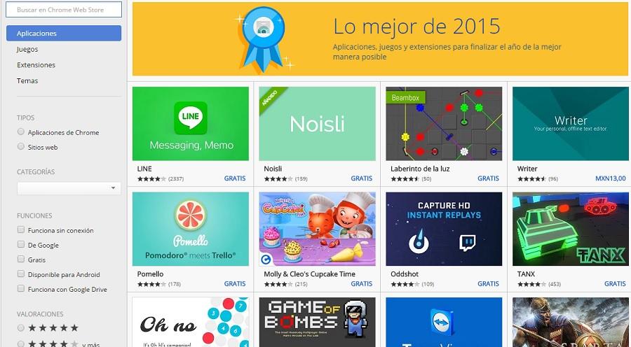 Los mejores juegos y apps de Google Chrome 2015