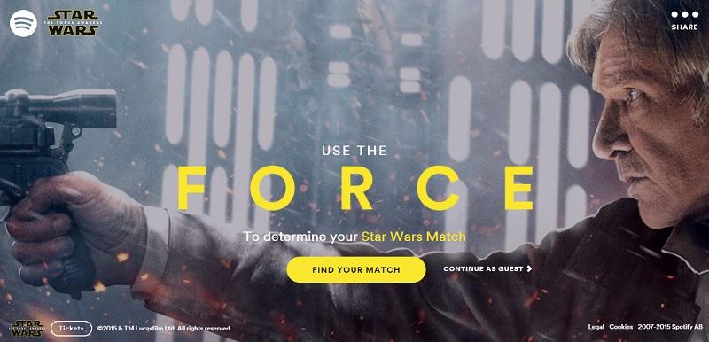 Spotify te dice que personaje de Star Wars eres segun tus gustos musicales